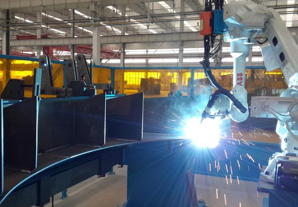 压力容器鞍座自动化焊接系统